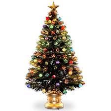 national tree 48 inch fiber optic ornament fireworks