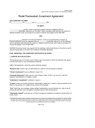 investment contract template 28 images breakeven analysis excel