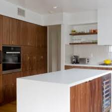 Contemporary Walnut Kitchen Cabinets - photos hgtv