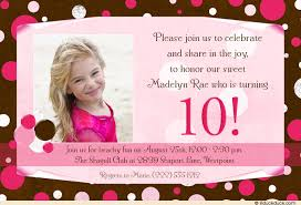 10th birthday party invitation wording dolanpedia invitations ideas