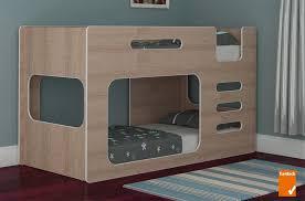 Buy Z Low Line Single Bunk Bed  Classic Oak GraysOnline Australia - Lo line bunk beds