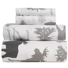 Queen Sheet Set Great Bay Home Stratton Printed Flannel Sheet Set Queen Save 50
