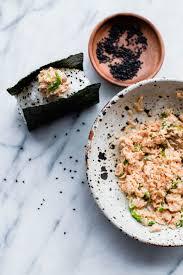 how to make sriracha mayo spicy tuna onigiri a beautiful plate