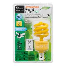 bug light light bulbs shop sylvania 60 w equivalent yellow a19 cfl bug light bulb at lowes com