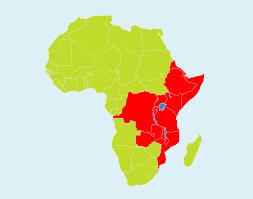 Rwanda Africa Map by Agid