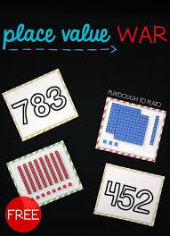 printable math games on place value place value war concentration games base ten blocks and fun math