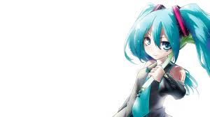 vocaloid hatsune miku simple background anime girls wallpaper