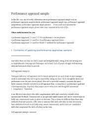 self appraisal form template free simple rental agreement