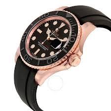 man rubber bracelet images Rolex yacht master automatic black dial 18kt everose gold black jpg