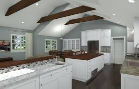 kitchens with vaulted ceilings great beautiful twotone kitchen