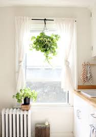Green Curtain Pole The Dishtowels The Plant Hanging From The Curtain Rod The