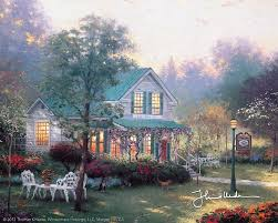 306 best kinkade images on drawing and