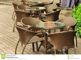 brown cafe chairs stock image image 26108361