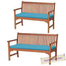 Garden Bench With Cushion Outdoor Waterproof 2 Seater Bench Swing Seat Cushion Only Garden