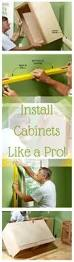 How To Install Wall Kitchen Cabinets 25 Best Installing Kitchen Cabinets Ideas On Pinterest Hanging