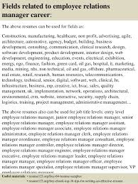 Sample Employment Resume by Top 8 Employee Relations Manager Resume Samples