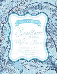 baby boy baptism or christening invitation template stock vector