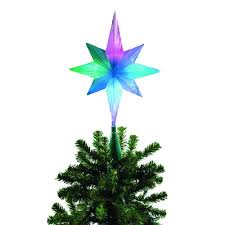bethlehem tree topper brite frosty color changing led tree topper 42 525 00