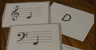 musical cards free note flashcards