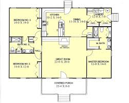 3 bedroom ranch house floor plans country style house plans 1700 square foot home 1 story 3