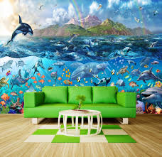 wallmuralshop com new york skyline cheap wallpaper wall murals tropical sea life ocean fishes orca wallpaper wall mural art 210