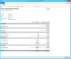 Total Compensation Statement Template by 2012 R3 Cu8 Total Compensation Statement Microsoft Dynamics Ax