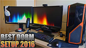 My Gaming Pc Setup Tour Youtube by Gaming Setup Cheap Room Ideas Home Decor Pc Insane College Dorm