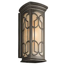 Hampton Bay Exterior Wall Lantern by Kichler 49226oz One Light Outdoor Wall Mount Wall Porch Lights