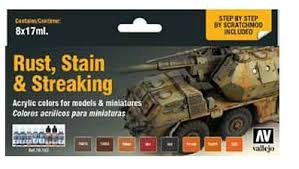 rust stain u0026 streaking model color paint set 8 colors hobby and