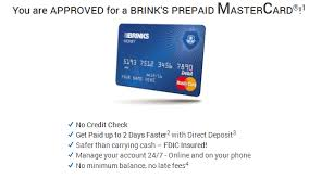 prepaid debit card no fees free brink prepaid debit card