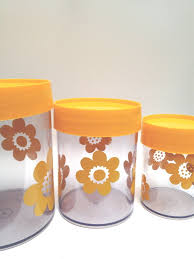 yellow canister sets kitchen 566 best vintage kitchen canister sets images on