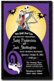 nightmare before christmas wedding invitations purple nightmare before christmas wedding invitations di 5051