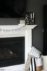 diy splatter paint bunny garland chic easter mantel this is