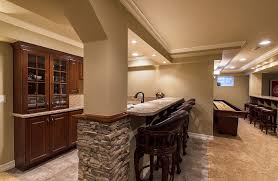Finished Basement Bar Ideas The Basement Finishing Ideas Comforthouse Pro