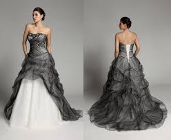 black and white wedding dresses discount 2015 new black and white wedding dresses
