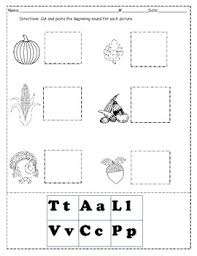 thanksgiving words beginning sound worksheet by a clever apple