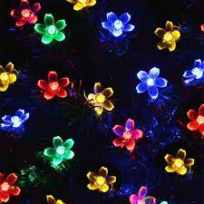 Solar Power Led Christmas Lights 7m 50 Led Solar Powered Flower Christmas Lights For Christmas