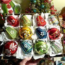 12 antique miniature german lauscha glass ornaments 5204
