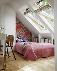 Dormer Bedroom Design Ideas Pink Comforter And Stylish Skylights For Cozy Loft Bedroom Design
