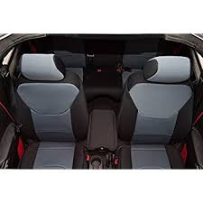 Jeep Wrangler Leather Interior Amazon Com 2011 2017 Jeep Wrangler Jk Seat Covers Black Full