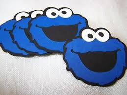 cookie monster table decorations cookie monster party decorations 6 in face sesame street 4 ebay