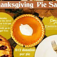 eastern utah community credit union annual thanksgiving pie sale