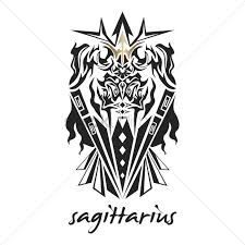 free sagittarius zodiac sign vector image 1242093 stockunlimited