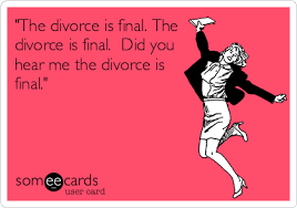 Divorce Meme - the divorce is final the divorce is final did you hear me the