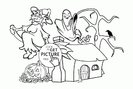 funny halloween witch and ghost coloring pages for kids halloween