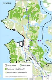 Map Of Seattle Neighborhoods by Centurylink Takes On Comcast In Seattle With Rival Prism Tv The