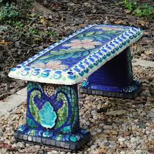 mosaic garden bench u003d i can do that with my plain grey concrete