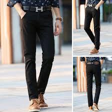 2015 casual pants brand for men dress pant mid full slim fit suit