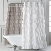 White Shower Curtain Ruffled White Shower Curtain Pier 1 Imports