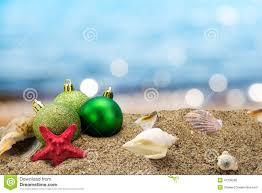 Australian Christmas Christmas Balls And Shells On The Beach Stock Photo Image 41238286